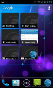 android default browser in the browser widget replace the globe with firefox
