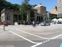 nyc set up an obstacle course to teach how to cycle in the