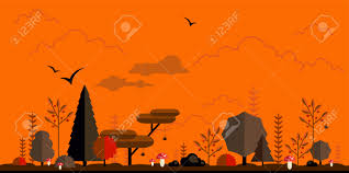 background halloween pictures halloween forest flat background simple and cute landscape for