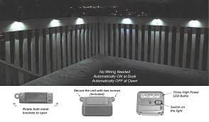 Solar Powered Deck Lights Set Of 6 Solar Powered Wunderlight Spot Deck Lights Wl 1 6 U2013 Homebrite