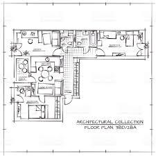 blueprint floor plan architectural floor plan stock vector art 517545132 istock