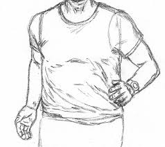 how to draw a man running let u0027s draw people