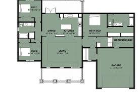 house floor plans 3 bedroom 2 bath with garage savae org