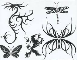 tribal dragonfly butterfly and dragon tattoo tattoo from itattooz