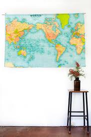 Vintage World Map by Vintage World Map World Map Wall Hanging Vintage