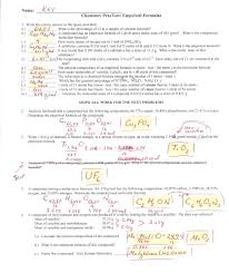 empirical formula worksheet with answers worksheets