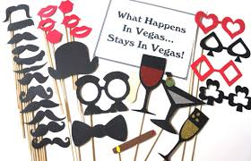 photo booth las vegas the las vegas collection set of 30 photo booth props with