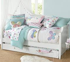 Juliette Bed Pottery Barn Ella U0027s Bedroom Lucy Butterfly Quilted Bedding Pottery Barn