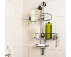 Bathroom Shower Organizers Simplehuman Adjustable Shower Caddy Stainless Steel Anodized