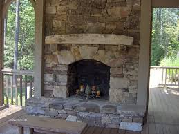 Outdoor Fireplace Surround by Decorating Large Stacked Stone Outdoor Fireplace Ideas Beautify