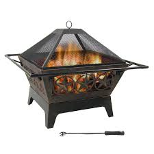 amazon com northern galaxy square wood burning fire pit 32 inch