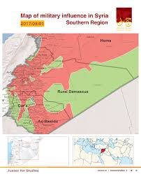 Damascus Syria Map by Map Of Military Influence In Syria 01 08 2017