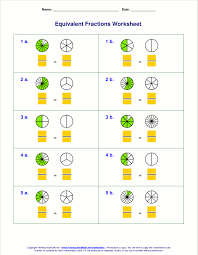 fractions math free equivalent fractions worksheets with visual models