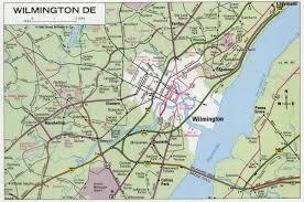 delaware road map usa wilmington de road map