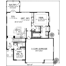 traditional style house plan 2 beds 2 baths 1822 sq ft plan 70