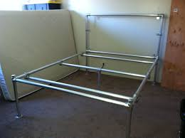 Aluminum Bed Frame Diy Aluminum Pipe Bed Frame Figure Out How To Do For Cool Looking