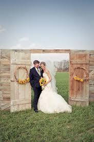 wedding entrance backdrop sunflower theme wedding barn doors barn and doors