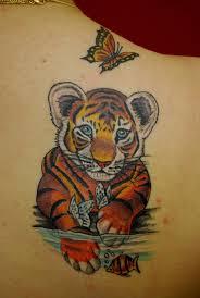 57 baby tiger tattoos ideas