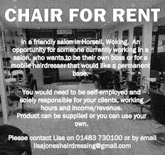Rent A Chair Jones Hairdressers