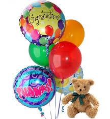 balloons and teddy delivery balloons 6 mixed balloons a balloon bouquet