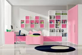 chic teen bedroom design for with cute pink bed frame and