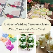 unique wedding ceremony ideas 40 place cards