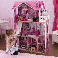 barbie doll house kit wooden pink playset dream dollhouse mansion