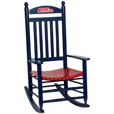 White Slat Rocking Chair by Ole Miss Rebels Rocking Chair Navy Blue Baby Stuff