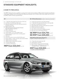 bmw 3 series price list bmw 3 series touring price list july 2014 by bmw uk