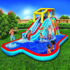 banzai splash blast lagoon inflatable outdoor water slide backyard