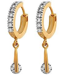 gold earrings for women images buy youbella fancy drop gold plated bali hoop earrings for women