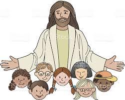 jesus children stock vector art 463560047 istock