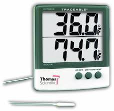 thomas traceable big digit thermometer 58 to 158 degree f 50