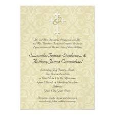 christian wedding invitations golden rings cross christian wedding invitations zazzle