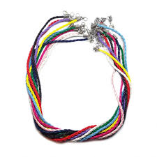necklace cord images 18 inch braided leather necklace cord with extenders 3 mm jpg