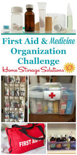create a medicine organizer u0026 first aid kit center in your home