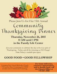 community thanksgiving dinner united methodist church