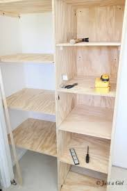 How To Make Wood Shelving Units by The 25 Best Diy Closet Shelves Ideas On Pinterest Closet