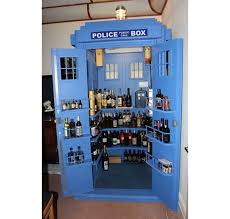 keep your booze in a tardis inspired liquor cabinet walyou