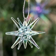 acrylic starburst snowflake ornaments ornaments