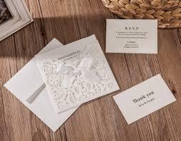 amazon com wishmade 50x white laser cut u0026 embossed invitations