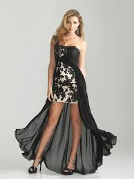 cocktail dress black chiffon strapless high low sheath column cocktail dress cnm0059