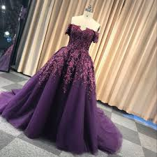 purple tulle purple tulle shoulder strapless sweep winter formal