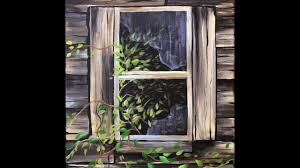 painting on glass windows old shed window step by step acrylic painting on canvas for