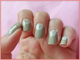 gray white lace bridal nail arts fashion fuz