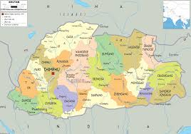 Political Map Of South Asia by Detailed Clear Large Map Of Bhutan Ezilon Maps