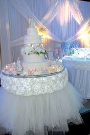Wedding Cake Table Interesting Cake Table Decorations For Weddings 92 About Remodel