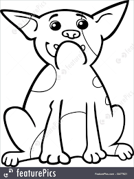 pets french bulldog cartoon for coloring stock illustration