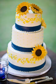 sunflower wedding ideas sunflower wedding cakes picmia