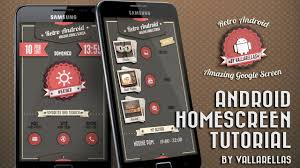home themes for android retro android amazing screen by vallarellas android homescreen